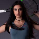 Foto tennista sportiva